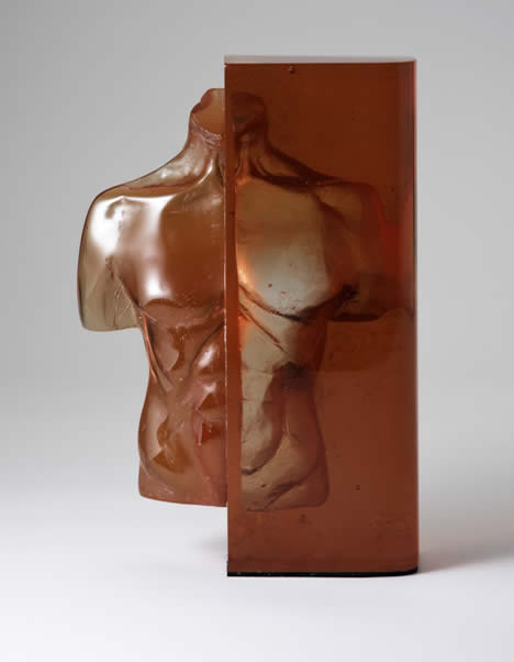 Glass male torso